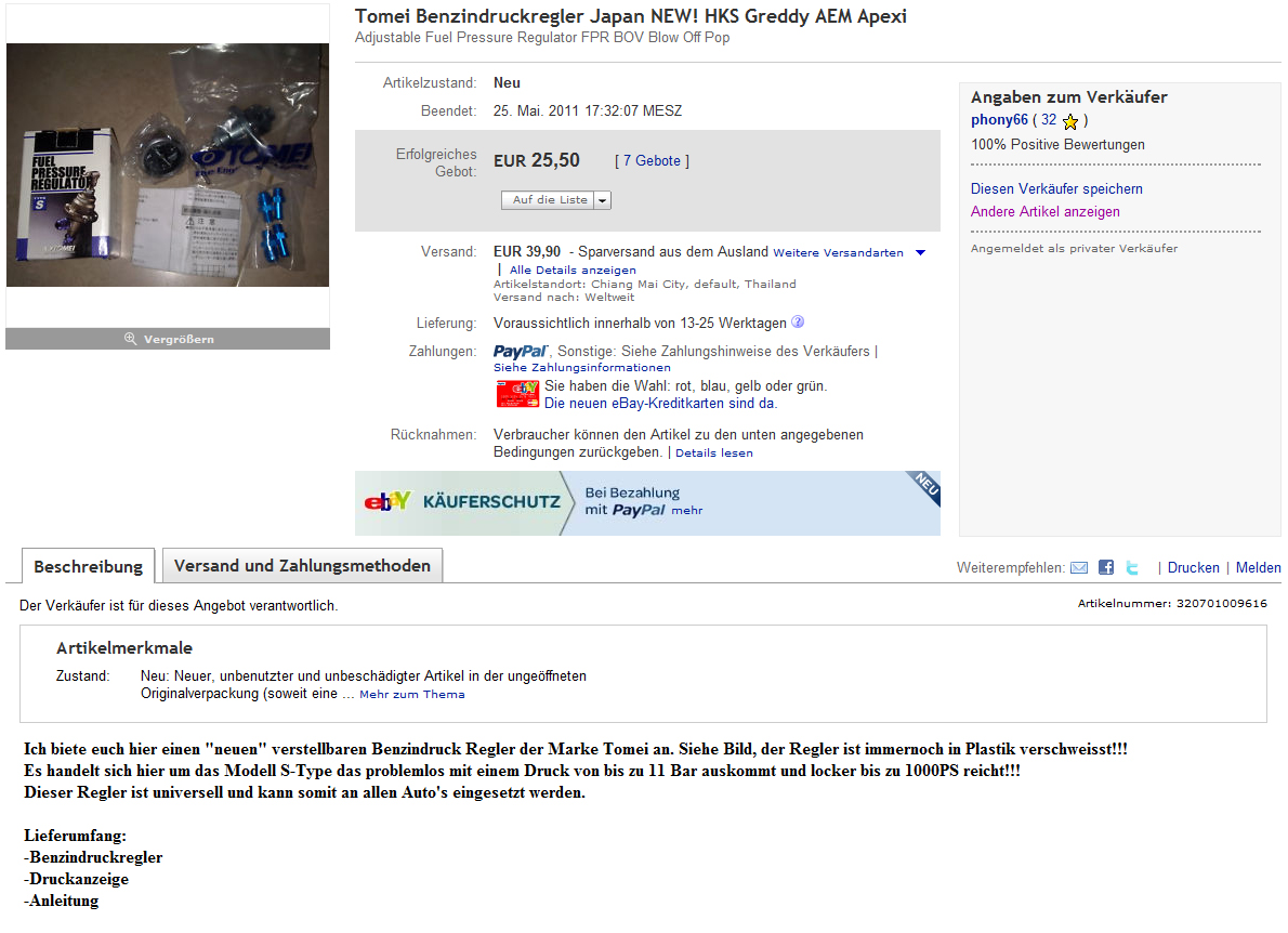 Phony66 - Sellers Fake Powered Usa More Tomei On Ebay