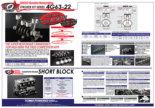 Thanks Campaign Special! 4G63 Stroker Kits and Short Blocks
